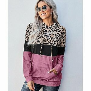 Coloblock Pullover Hooded Long Sleeve Shirt